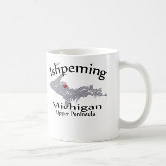 Ishpeming Michigan Heart Map Design Mug Mugs