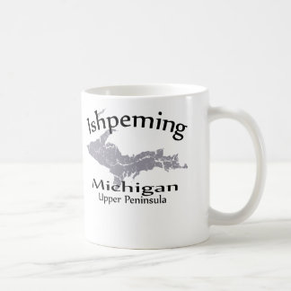 Ishpeming Michigan Map Design Mug Mugs