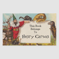 Isidore and his Animals Book Sticker