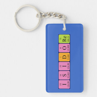 Isidore periodic table name keyring key chains