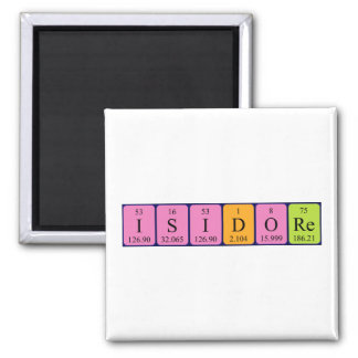 Isidore periodic table name magnet