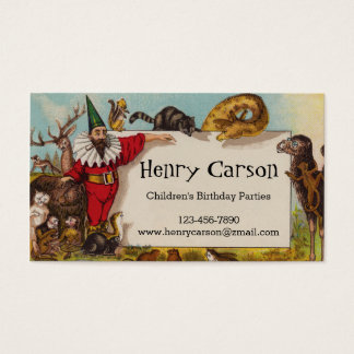 Isidore the Elf & his Animals Business Card
