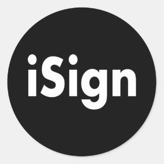iSign Classic Round Sticker