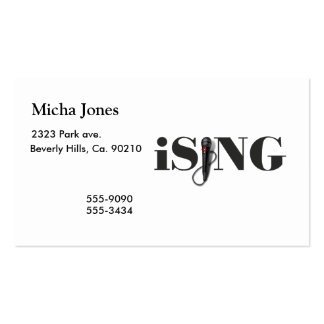 iSING Microphone Performer Business Card