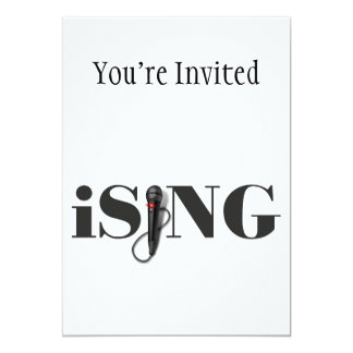 iSING Microphone Performer 5x7 Paper Invitation Card