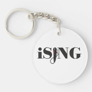 iSING Microphone Performer Double-Sided Round Acrylic Keychain