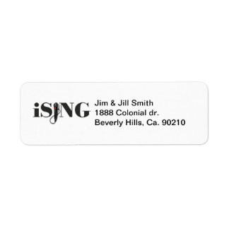 iSING Microphone Performer Label
