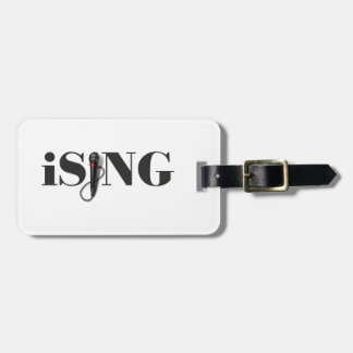 iSING Microphone Performer Travel Bag Tags
