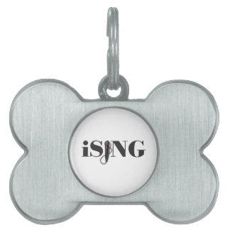 iSING Microphone Performer Pet Name Tag