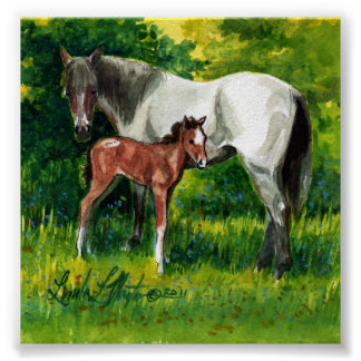 Isis and Her Surprize Foal Print