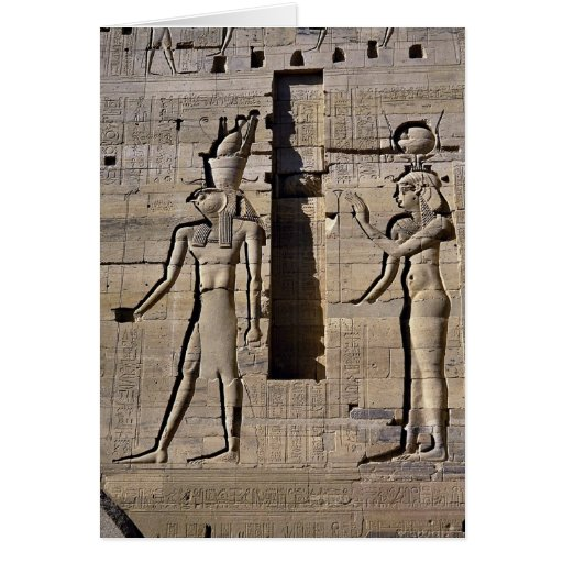 Isis and Horus, Egypt Greeting Card