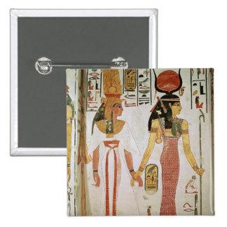 Isis and Nefertari 2 Inch Square Button