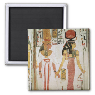 Isis and Nefertari 2 Inch Square Magnet
