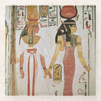 Isis and Nefertari Glass Coaster