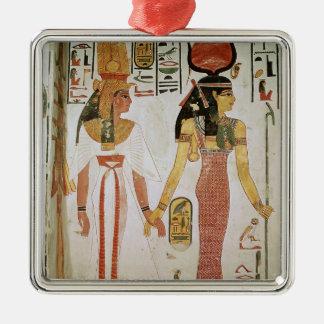 Isis and Nefertari Metal Ornament