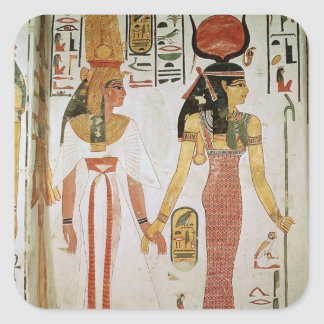 Isis and Nefertari Square Sticker