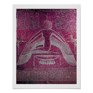 ISIS ,antique red  white pink Poster