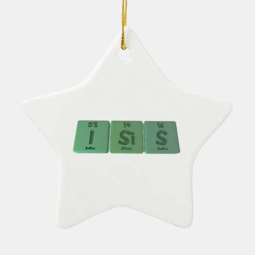 Isis as Iodine Silicon Sulfur Double-Sided Star Ceramic Christmas Ornament