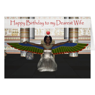 Isis Birthday Card for Wife