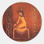 ISIS de la diosa Pegatinas Redondas