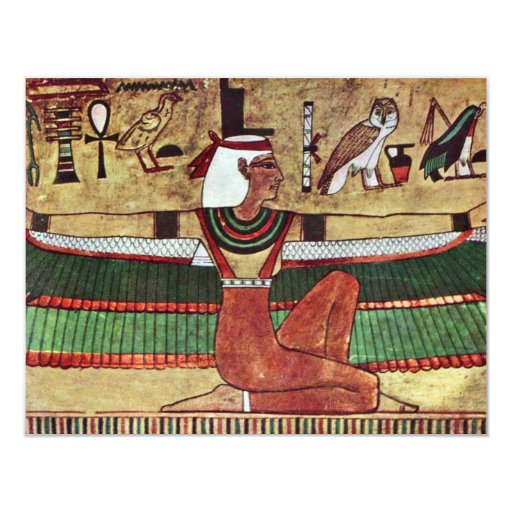 ISIS de la diosa, por Ägyptischer Maler Um 1360 Invitacion Personalizada