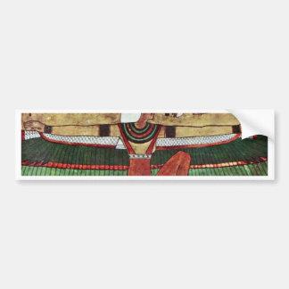 ISIS de la diosa, por Ägyptischer Maler Um 1360 Pegatina Para Auto