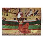 ISIS de la diosa, por Ägyptischer Maler Um 1360 Tarjeta De Felicitación