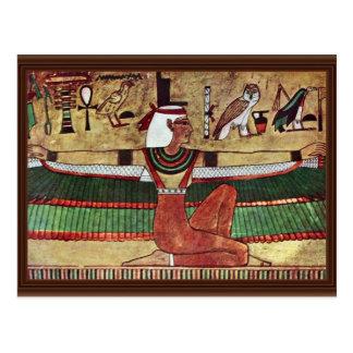 ISIS de la diosa, por Ägyptischer Maler Um 1360 Postal