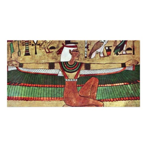 ISIS de la diosa, por Ägyptischer Maler Um V. 1360 Tarjeta Fotográfica Personalizada