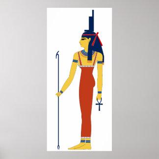 ISIS egipcio antiguo de la diosa Poster