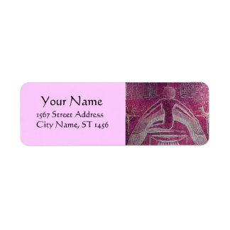 ISIS Egyptian Goddess,Antique Pink Hieroglyph Label