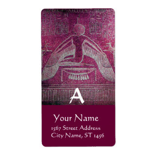 ISIS Egyptian Goddess,Antique PinkPurple Monogram Label