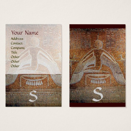 ISIS EGYPTIAN MONOGRAM ,bright  brown white Business Card