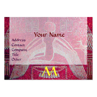 ISIS EGYPTIAN MONOGRAM bright pink purple white Business Card Templates