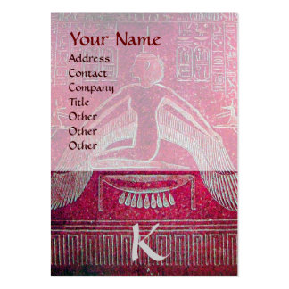 ISIS EGYPTIAN MONOGRAM bright pink purple white Business Cards