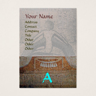 ISIS EGYPTIAN MONOGRAM , brown white grey blue Business Card