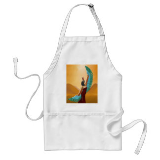 Isis Egyptian Pagan mother goddess digital art Adult Apron