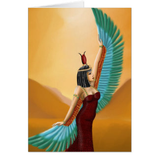Isis Egyptian Pagan mother goddess digital art Card