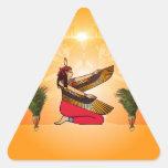 ISIS la diosa de la mitología egipcia Pegatina Triangular