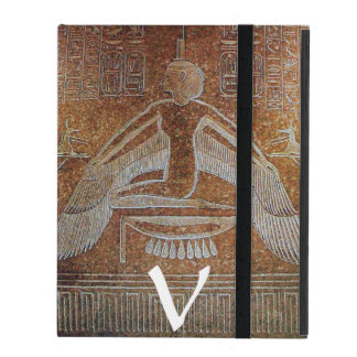 ISIS MONOGRAM, Antique Brown Sepia iPad Case