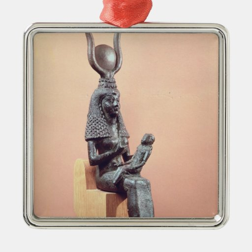 Isis suckling the infant Horus Square Metal Christmas Ornament