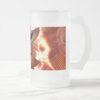 Isis the goddess of Egyptian mythology. 16 Oz Frosted Glass Beer Mug