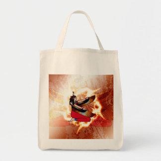 Isis the goddess of Egyptian mythology. Grocery Tote Bag