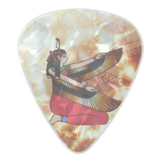 Isis the goddess of Egyptian mythology. Pearl Celluloid Guitar Pick