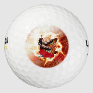 Isis the goddess of Egyptian mythology. Pack Of Golf Balls