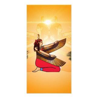 Isis the goddess of Egyptian mythology Custom Photo Card