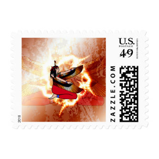 Isis the goddess of Egyptian mythology. Postage Stamp