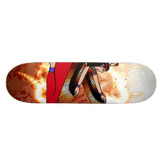 Isis the goddess of Egyptian mythology. Skateboard