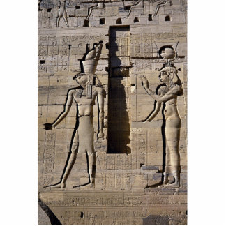 ISIS y Horus, Egipto Fotoescultura Vertical