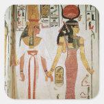 ISIS y Nefertari Pegatina Cuadrada